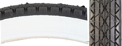 Whitewall Cruiser Bike Tire 26 x 2.125